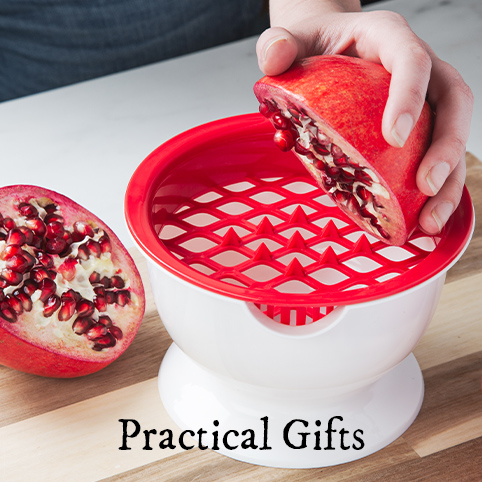 Tescoma's Pomegranate deseeder is a practical gift that makes breaking down a pomegranate easier