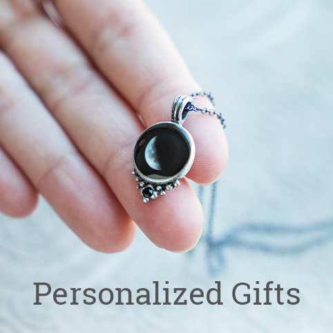 Personalized Gifts like MoonGlow's choose your moon phase necklace