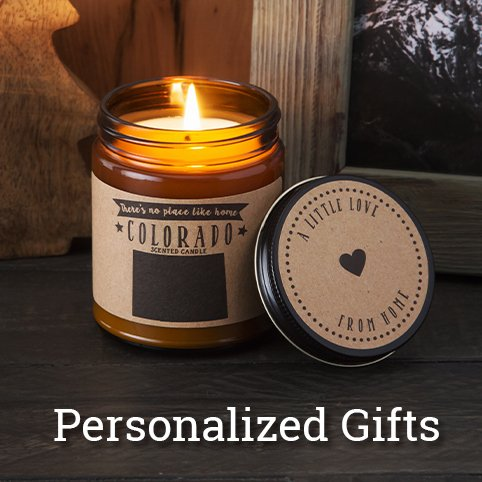 Personalized Gifts like No Place Like Home's State Scented Candles (Colorado)