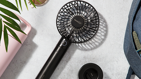mini fan on a grey background