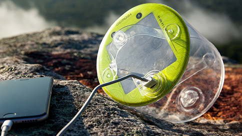 Solar inflatable lantern and charger