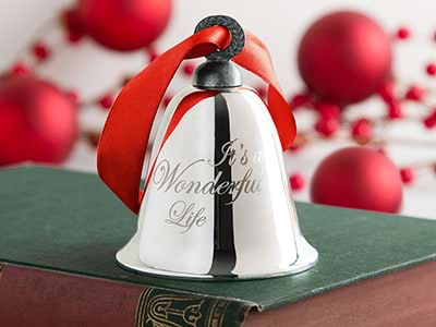 This 'It's A Wonderful Life' ornament bell is based on the original Bevin bell that starred in the classic movie.