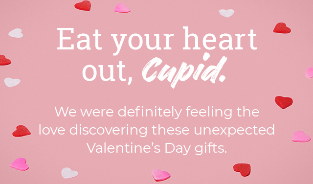 Eat your heart out, Cupid. We were definitely feeling the love discovering these unexpected Valentine's Day gifts.