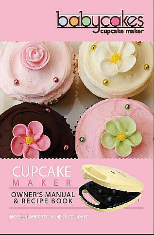 Babycakes Mini Cupcake Maker instruction manual.